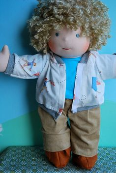 Cute little boy Waldorf Doll.  This Flickr Acct has tons of pics and hairstyle ideas.