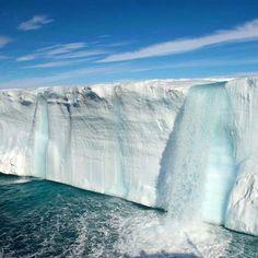 Glacial waterfalls.