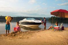 How to Beach your Boat to swim or hang out on a beach. #BoatUS #boat #beach #SeaRay