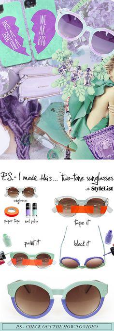 two toned sunglasses