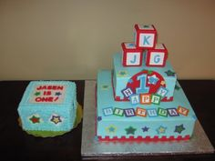 Boy 1st Birthday Cake