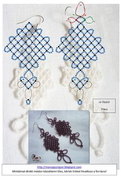 Free Beaded Earrings Pattern featured in Bead-Patterns.com Newsletter! Check it out for more free beading patterns and more beading projects!