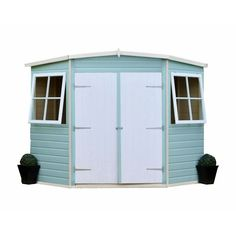 Corner shed from B&Q