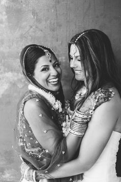 Beautiful, Lesbian Indian Wedding at SmogShoppe in Los Angeles. Photography by Steph Grant Photography.