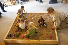 Winter birthday? Create an indoor sandbox for the kids to play! #kidsparty #partyidea