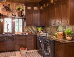 Refined Rustic traditional laundry room. Gorgeous!