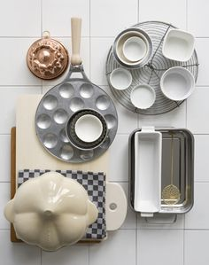 poffertjes moulds, ramekins, trays and dishes...