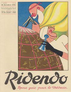 October 1934 Ridendo,  Revue gaie pour le médecin. Jacques Touchet.