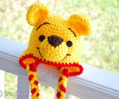 Crochet Pooh Bear Hat Pattern : Disney Crochet on Pinterest Crochet Disney, Crochet ...
