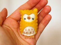 DIY: Owl Brooch. This is so adorable! ¯\_(ツ)_/¯