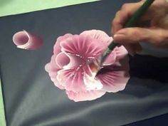 This is a video that I made for my students.  Try it, you will like it :) Learning To Painting, Painting Flowers, One Stroke Painting, Cabbage Roses, Decoupage Tutorial, Paint Flowers, Painting Techniques, Flower Painting Videos, Nail Art