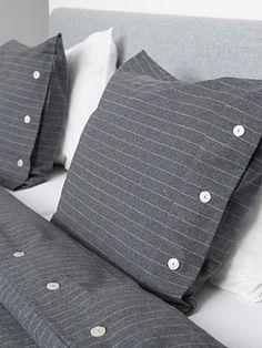 Pinstripe bedding