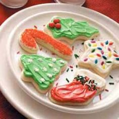 Frosted Butter Cutouts Recipe. This is for a soft sugar cookie. Very good, they go quickly!