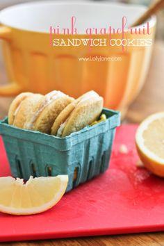 Pink Grapefruit Sandwich Cookies. Tastes just like grapefruit... in ...