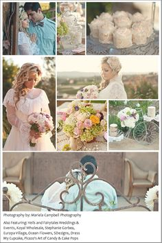 Pink, Green, Ivory and beautiful natural lighting complimented this gorgeous Photo Shoot @ Europa Village