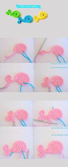 Ballenas a ganchillo #crochet #crafts #ganchillo #manualidades