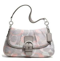 Coach Soho Optic Linen Flap Shoulder Bag Handbag Purse 19238 Multi --- http://www.pinterest.com.mnn.co/5js