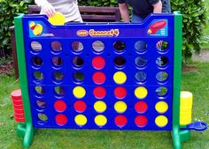 Giant Outdoor Games DIY | Giant Outdoor Connect Four | Apartment Therapy