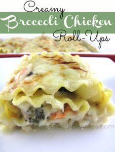 Creamy Broccoli Chicken Roll-Ups