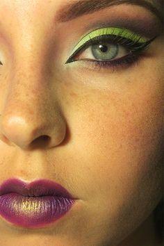 Crazy Cat-Eye!  #makeup #beauty #cosmetology