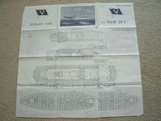 Ship plan of the Sitmar ship Fairsky Ed 4/63