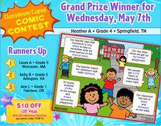 Classroom Capers Winners - May 7, 2014 - Teacher Appreciation Week