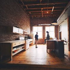 I love brick indoors.