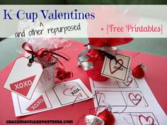 K-Cup (and other repurposed) Valentines + free printables