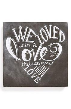 chalkboards, heart, edgar allan poe, chalkboard art, inspir, tattoo, love quotes, print, chalk art