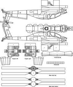 Apache Helicopter Paper Model - Paper Toys and Other Stuff at PaperToys.com