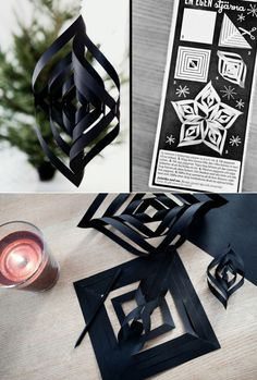 Geometric Paper Ornaments | 40 DIY Home Decor Ideas That Aren't Just For Christmas