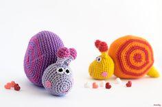 Pattern  Amigurumi Crochet Toy Snail by Amichy on Etsy, $4.00