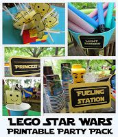 FREE Lego Starwars Printable Party Park! Best one I've found!