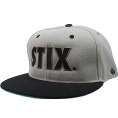 Stix Stock Snapback Hat (Grey/Black) $23.95