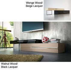Oxford TV Stand | Overstock.com  Dimensions: 95 inches up to 148 inches wide x 24 inches deep x 21 inches high