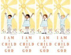 "FREE ""I am a child of God"" bookmarks"