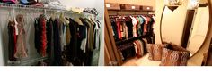 3. The Amanda's closet make over. #organizedliving #organizedcloset