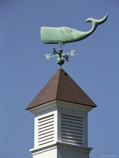 Whale weathervane.