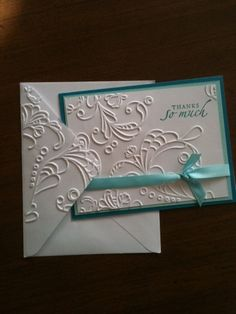 emboss the envelope too! Yes, love that! @Martha