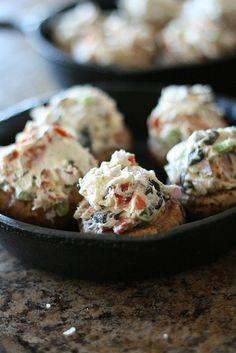 Pizza Stuffed Mushrooms 4 by laurenslatest, via Flickr