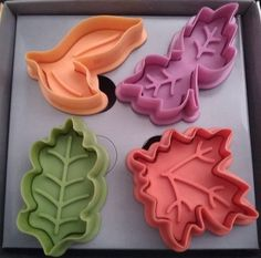 Autumn Leaves Fondant Cookie Pie Crust Cutters Plungers Stencil Press Mold Stamp. $10,00, via Etsy.