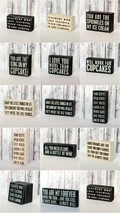 New to the Shop :: Quote Box Signs - The TomKat Studio