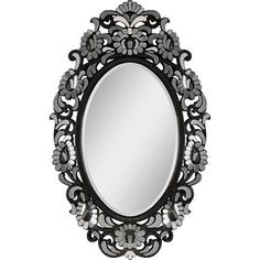 Miroir avec cadre noir ovale for Miroir ung drill