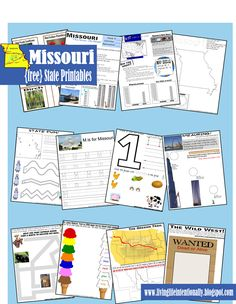 {free} Missouri State Printable - United States Unit to help kids learn about all 50 states including information, map work, weather, precipitation, animals & vegetation, and lots of fun activities to remember fun facts from the state. Each pack is about 30 pages with a new state being released every week! Great for a homeschool unit, summer fun, or roadtrip printables to help make the trip more FUN & EDUCATIONAL!