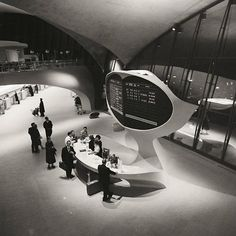 historicaltimes:  Information desk, Trans World Airlines Terminal, John F. Kennedy Airport, New York, New York, by Balthazar Korab, between 1956-6 Read More