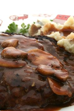 #Weight_Watchers Quick & Easy Salisbury Steak with Mushrooms #Recipe