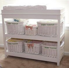 Great storage & changing table.