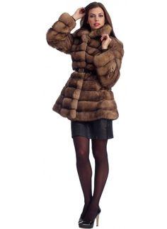 Tortora Sable Horizontal Fur Jacket