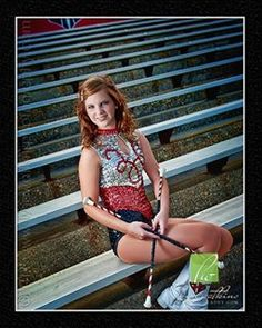 Majorette Senior Session - This one is cool too, nice to be able to see her entire costume.  *Life regret...  :-(