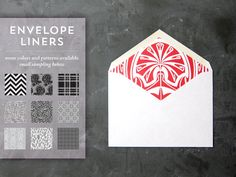 Envelope Liners for wedding and party invitations by thefuturemrsdarcy on Etsy, $1.00